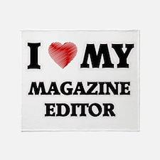 I love my Magazine Editor Throw Blanket