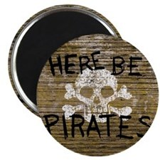 Here Be Pirates Magnet