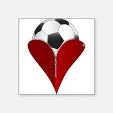 Love Soccer Sticker