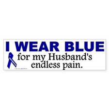 I Wear Blue For My Husband's Pain Bumper Bumper Sticker