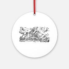 Don Quixote Skeleton Ornament (Round)