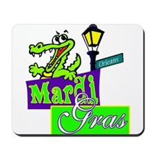 Gator at Mardi Gras  Mousepad