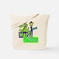 Gator at Mardi Gras  Tote Bag