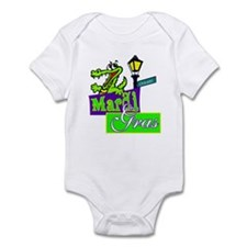 Gator at Mardi Gras  Infant Bodysuit