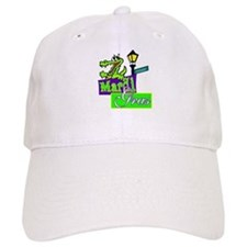 Gator at Mardi Gras Baseball Cap
