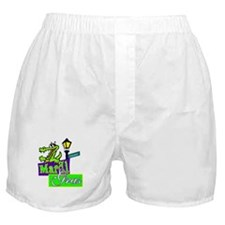Gator at Mardi Gras  Boxer Shorts