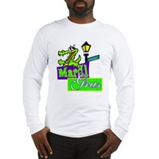 Gator at Mardi Gras  Long Sleeve T-Shirt