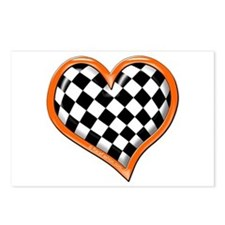 Orange Race Heart Postcards (Package of 8)