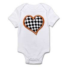 Orange Race Heart Onesie