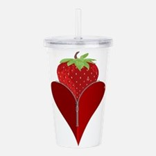 Love Strawberry Acrylic Double-wall Tumbler