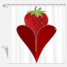 Love Strawberry Shower Curtain