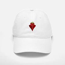 Love Strawberry Baseball Baseball Cap