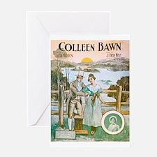 Colleen Bawn Vintage Irish Sheet Mu Greeting Cards