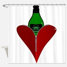 Poison Heart Shower Curtain
