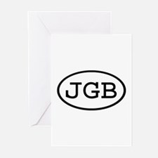 JGB Oval Greeting Cards (Pk of 10)