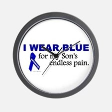I Wear Blue For My Son's Pain Wall Clock