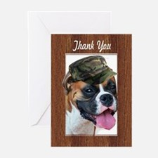 Thank You Boxer Dog Greeting Cards
