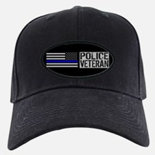 Police: Police Veteran (Black Flag Blue Baseball Hat