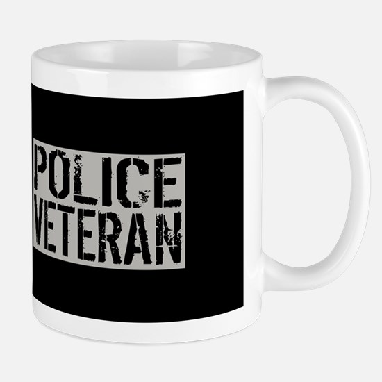 Police: Police Veteran (Black Flag Blue Mug