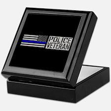 Police: Police Veteran (Black Flag Bl Keepsake Box