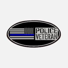 Police: Police Veteran (Black Flag Blue Line Patch