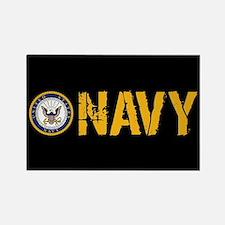 U.S. Navy: Navy (Black) Rectangle Magnet