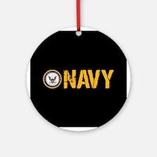 U.S. Navy: Navy (Black) Round Ornament