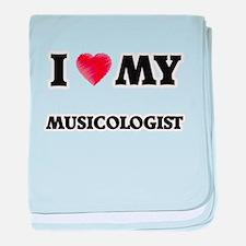 I love my Musicologist baby blanket