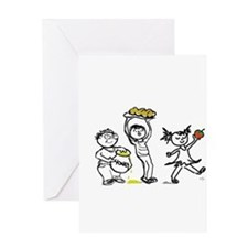 Jewish Kids Greeting Card