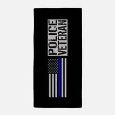 Police: Police Veteran (Black Flag Blu Beach Towel