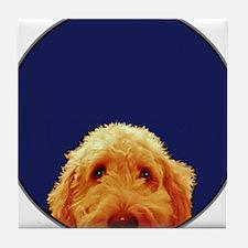 Golden Doodle Tile Coaster
