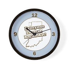 Everyone Loves A Region Rat Wall Clock
