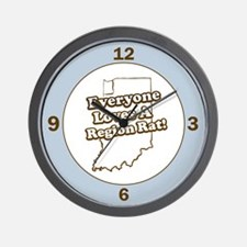 Everyone Loves A Region Rat Wall Clock