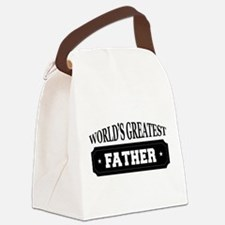 Worlds Greatest Father Canvas Lunch Bag