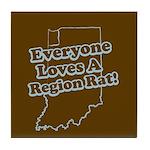 Everyone Loves A Region Rat Tile Coaster