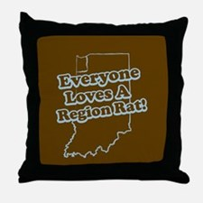 Everyone Loves A Region Rat Throw Pillow