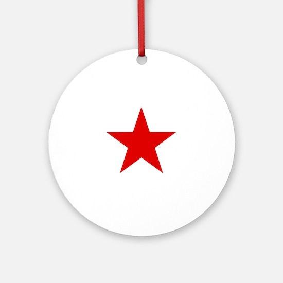 Funny Socialist Round Ornament
