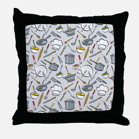 Chef's Tools Throw Pillow