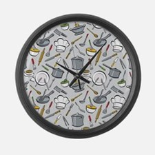 Chef's Tools Large Wall Clock