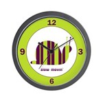 Slow Movin' Retro Snail Wall Clock
