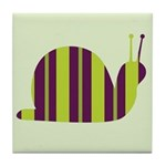 Slow Movin' Retro Snail Tile Coaster