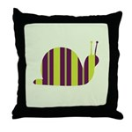Slow Movin' Retro Snail Throw Pillow