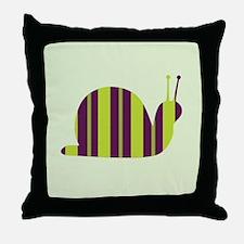 Slow Movin' Retro Snail Throw Pillow