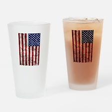 American Flag Grunge Drinking Glass