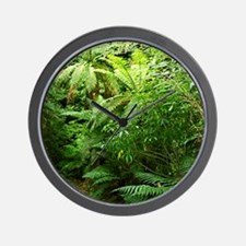 Punga Tree Ferns NZ Wall Clock