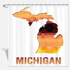 Unique Michigan state Shower Curtain
