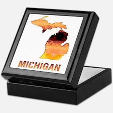 Cute State of michigan Keepsake Box