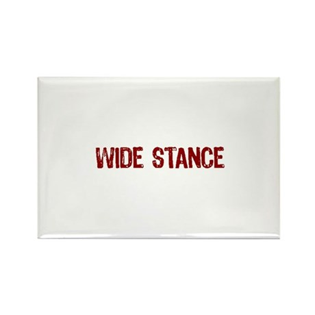 Wide Stance Red Rectangle Magnet (10 pack)