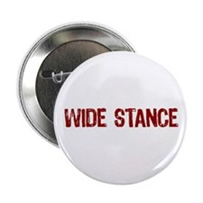 """Wide Stance Red 2.25"""" Button"""