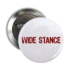 """Wide Stance Red 2.25"""" Button (10 pack)"""